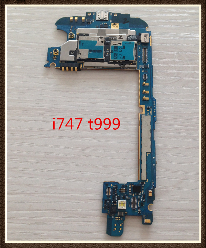 Mainboard Logic Board Choose Language ~Unlock Good quality Original Motherboard For  s3 i747 t999 version free shipping