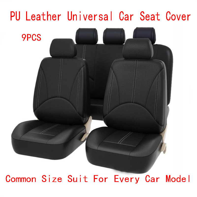 New Luxury PU Leather Auto Universal Car Seat Covers Automotive Seat Covers for toyota lada kalina granta priora renault logan car seat