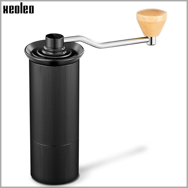 XEOLEO 50mm In Alluminio Manuale macinino Da Caffè In acciaio inox Burr grinder Conica Coffe bean miller Manuale di Caffè di Fresatura macchina