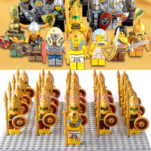 Super Heroes Atlantis Pharaoh Mummy Army Medieval Knight Corps Building Blocks Action Figures Children Legoed Collection Toys недорго, оригинальная цена