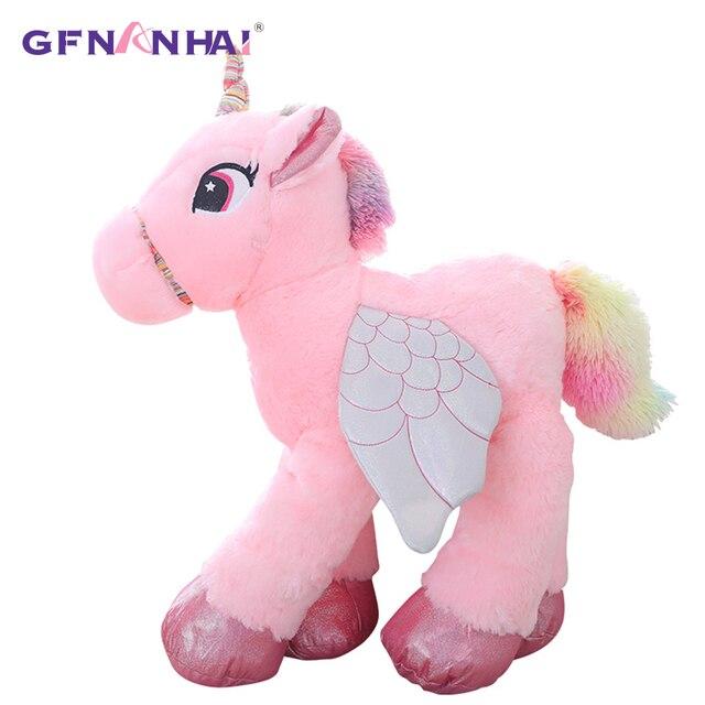 50 60cm Unicorn Plush Toy Cartoon Unicorn Soft Plush Animal Big