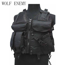 Tactical Mesh Vest Camouflage Police CS Nylon Jumper Carrier Vest Airsoft Paintball Military Hunting Protective Combat Gear(China)