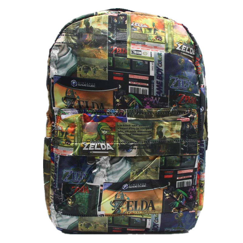 Anime Game Zelda Link School Backpack For Boy Girls Bags Cartoon Student Bookbag Unisex Color Shoulder Laptop Travel Bags zelda laptop backpack bags cosplay link hyrule anime casual backpack teenagers men women s student school bags travel bag