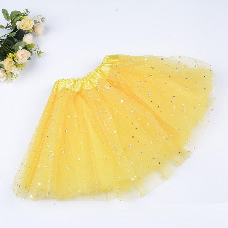 Загорается светодиодный детская одежда для девочек блестящие звезды юбка-пачка принцессы юбка-пачка для праздника шифоновая