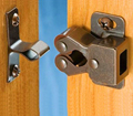 10pcs Double roller bronze plate door latch wardrobe catch kitchen cabinet cupboard Free Shipping