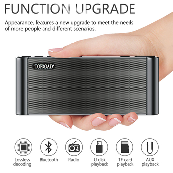TOPROAD HIFI Bluetooth Speaker Portable 2