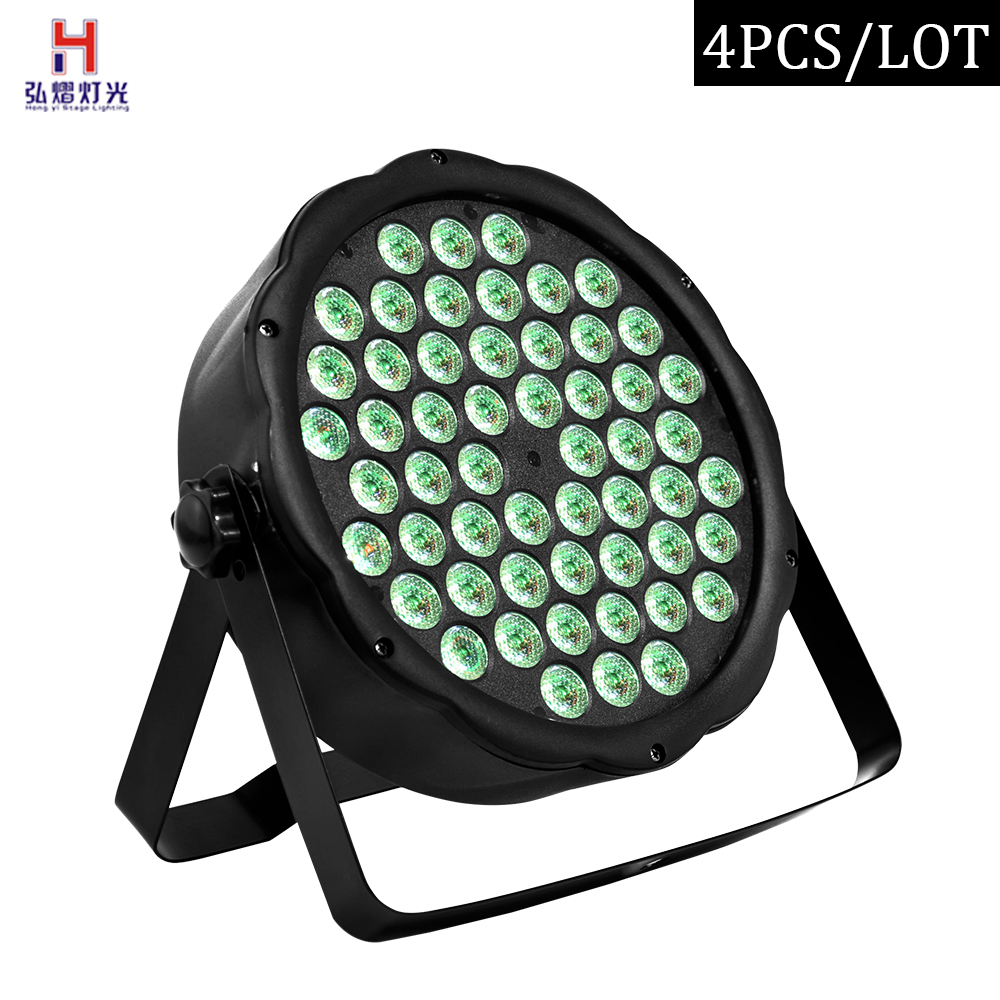 Par light led 54x3W lyre led flat par wash led DMX professional light for Party Bar Night club(4pcs/lot)