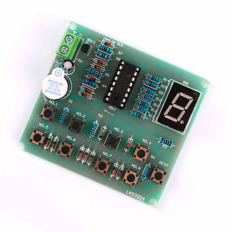8Ways Digital Responder DIY Kit Electronic Components CD4511 Soldering PractO YU