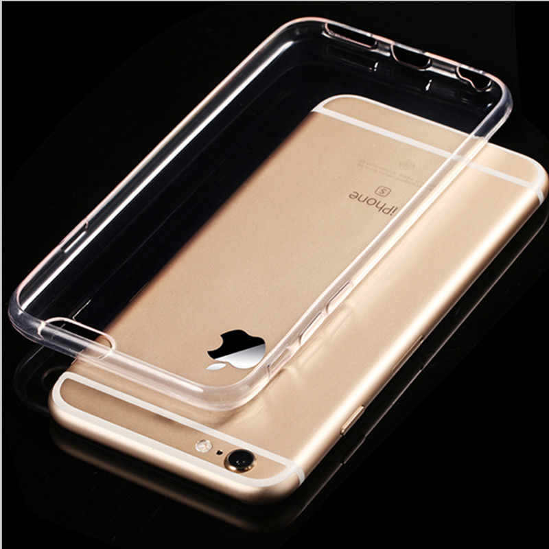 Funda de silicona fina transparente TPU para iPhone 7 8 funda para iPhone x XS Max XR carcasa para iPhone 6 6S Plus 5S SE