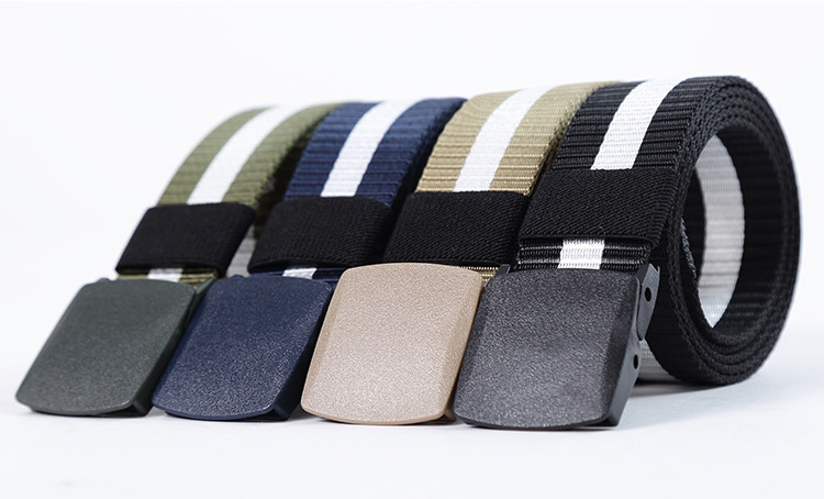Asien Unisex Outdoor Tactical Belt Spessa Cintura di Tela Militare Cintura in Tessuto con Fibbia A Sgancio Rapido per Le Donne Gli Uomini
