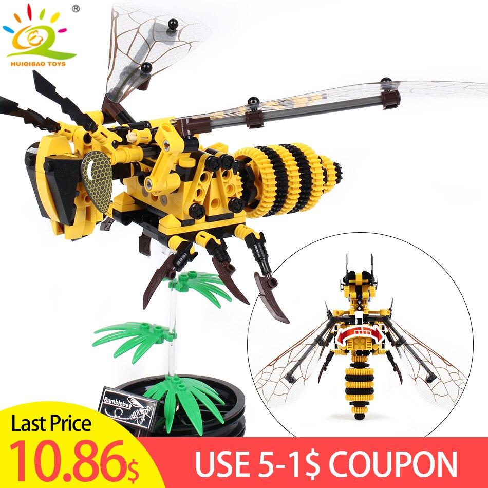 236 piezas simulado de DIY Bee construcción bloques Compatible Legoingly técnica ladrillos set niños juguetes educativos para niños