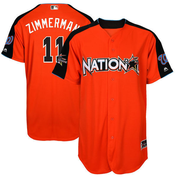 MLB Mens National League Ryan Zimmerman Baseball Orange 2017 MLB All-Star Game Home Run  ...