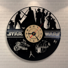 Hot Creative Clock CD Vinyl Record Wall Clock Film  Theme Reloj de pared Watches Duvar Saat Home Decoracion