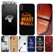 Maiyaca Ponsel Case Basketball Wallpaper Hot Jual Fashion Desain Sel Kasus untuk iPhone 8 7 6 6 S PLUS 5 5 S SE XR Coque Shell(China)