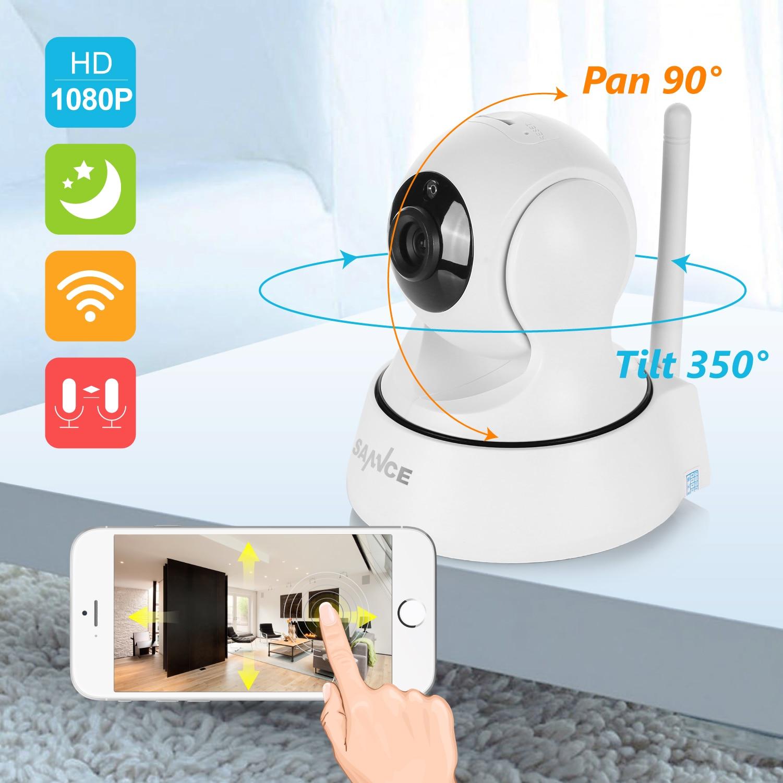 SANNCE 1080P Full HD Mini Wireless Wi fi Camera Sucurity IP CCTV Camera Wifi Network Surveillance SANNCE 1080P Full HD Mini Wireless Wi-fi Camera Sucurity IP CCTV Camera Wifi Network Surveillance Smart IRCUT Night Vision Cam
