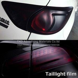 Image 5 - Película de luz mate con extremo negro de 30x100CM para faro trasero de moto, película de tintado ahumado, película de humo mate