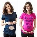 Creativo 3D de impresión Camiseta Tops Plus Tamaño de Maternidad Ropa de Maternidad Negro Tamaño S-3XL