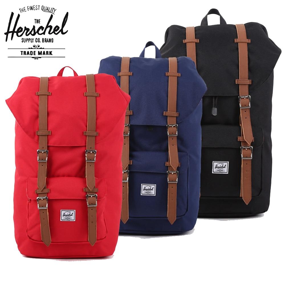 School bag herschel - Aliexpress Com Buy Herschel Backpack 23 5l Large Black Heritage Hot Brand Men Women Laptop Schoolbag America Classic Mochila Bag Herschel Backpack From