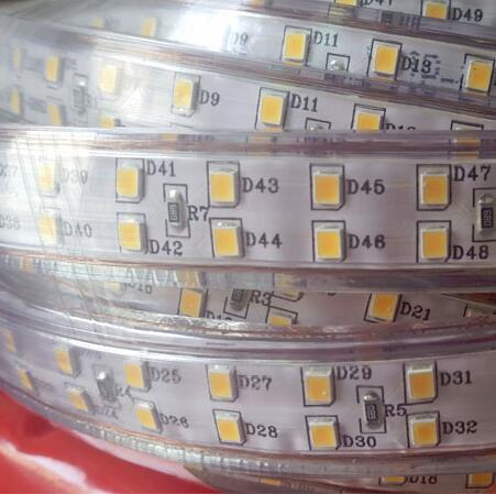 180 светодиодный/м SMD 2835 Светодиодная лента 220 в 230 в 240 В двухрядные светодиодные ленты веревочная лента для украшения дома сада - 4