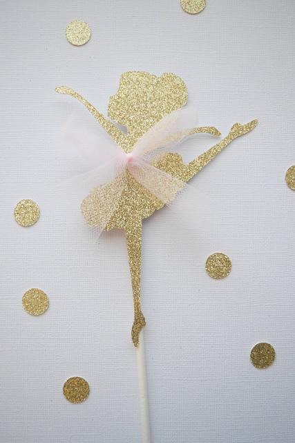 birthday cake topper, ballerina cake topper, gold glitter cakebirthday cake topper, ballerina cake topper, gold glitter cake topper, glitter cake topper