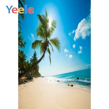 Yeele Seaside Beach Baby Photographic Backdrops Birthday Customize Sand Wedding Summer Backgrounds For Photo Studio