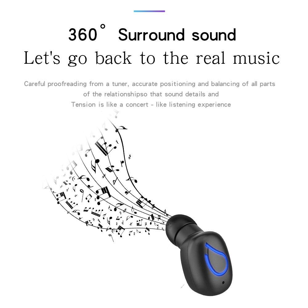 Спортивные наушники Bluetooth V4.2 беспроводные наушники в ухо невидимые мини музыкальные наушники для iPhone