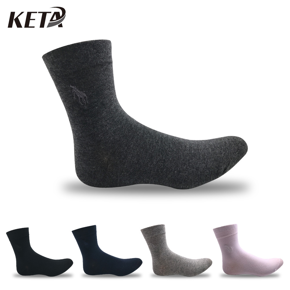 KETA Fashion Colorful Brand Polo Men Socks Male Casual Business Dress Socks For Men Crew Pure Cotton Socks (5Pairs/lot)