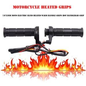 Image 3 - 3 in1 Motorcycle Handlebar Electric Hot Heated Grips Handle +Voltage Motorcycle Motorbike New