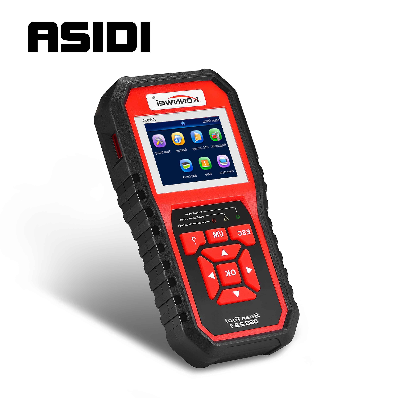 KONNWEI KW850 OBD2 EODB peut Scanner automatique un clic mettre à jour voiture Scanner de Diagnostic outil batterie Testeonly détecter voiture à essence 12 V
