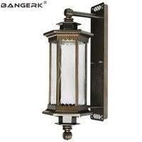 Европейское Наружное освещение Настенный светильник винтажный водонепроницаемый антикоррозийный светодиодный светильник для крыльца на