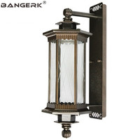 European Outdoor Lighting Wall Lamp Vintage Waterproof Antirust LED Porch Lights Wall Sconce Garden Balcony Decor Lamparas