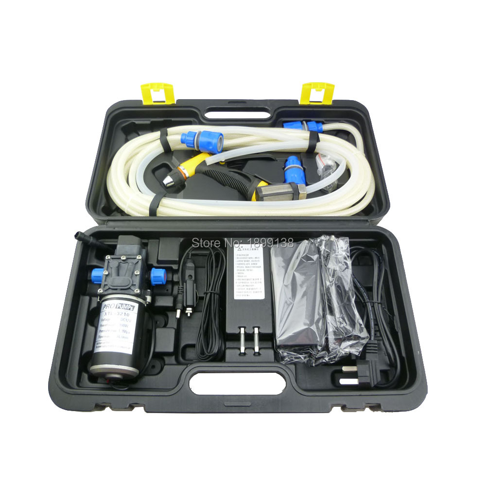 With 2 adapters, automatic pressure control high pressure portable DC 12 volt 100w car wash tool kit with self priming pump cxa l0612 vjl cxa l0612a vjl vml cxa l0612a vsl high pressure plate inverter