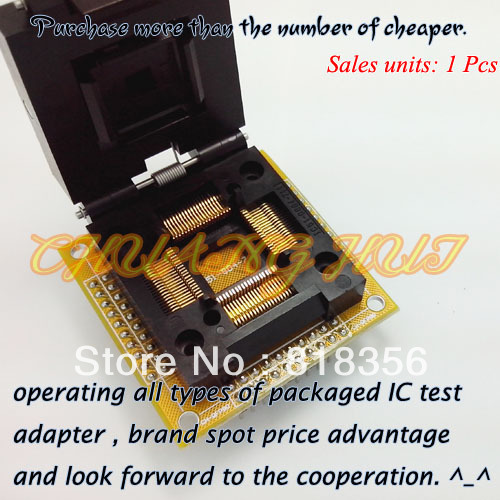 CH-QFP80 Programmer Adapter TQFP80/QFP80 IC51-0804-711 Test Socket/IC Socket Pitch:0.65mm  Size:14mmx14mm