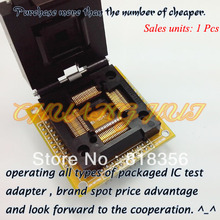 Ч-QFP80 программист адаптер TQFP80/QFP80 IC51-0804-711 тест гнездо/гнездо IC тангаж:0.65 mm размер:14mmx14mm