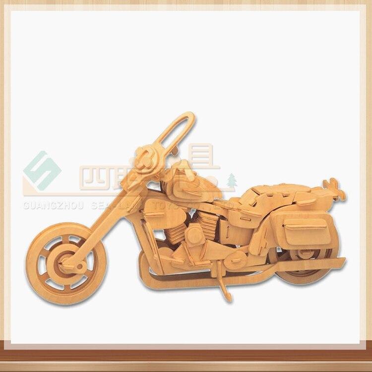 3D деревянный Мотоцикл пазл Галлей деревянный пазл игрушка IQ Развивающие деревянные игрушки DIY ручной работы Пазлы engineering