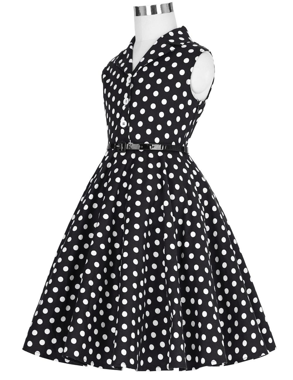 Grace Karin Flower Girl Dresses for Weddings 2017 Sleeveless Polka Dots Printed Vintage Pin Up Style Children's Clothing 7
