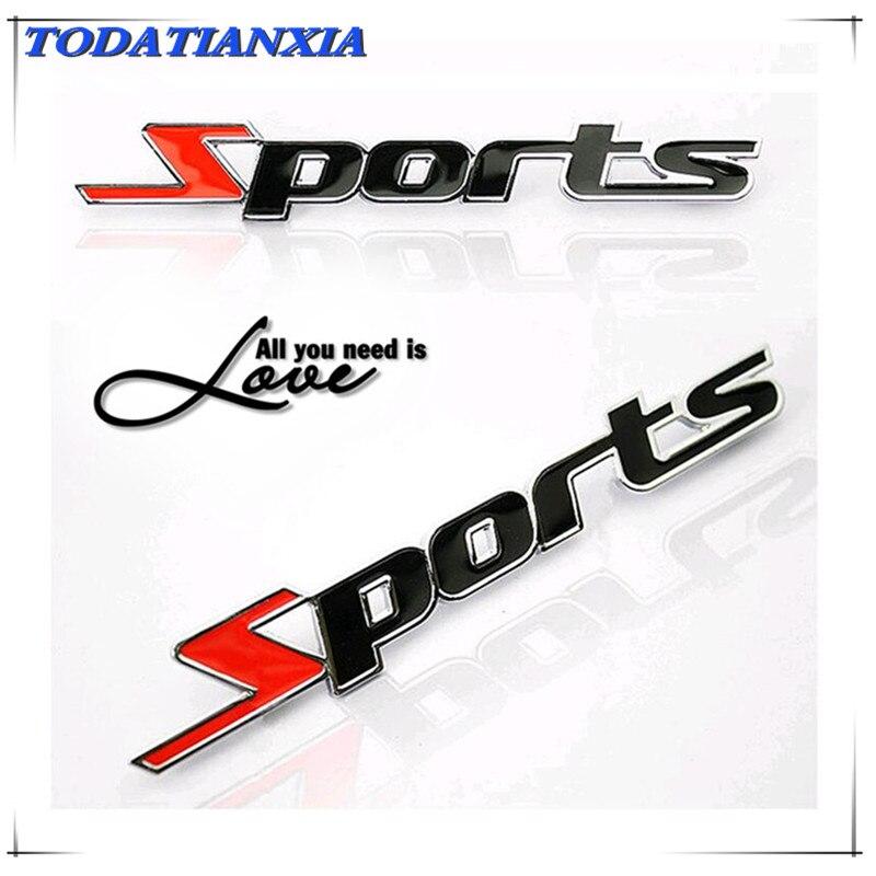 Car Sports 3D metal Sticker Emblem Badge Decal for lada vesta hyundai solaris lada granta polo mazda 3 opel astra h Accessories