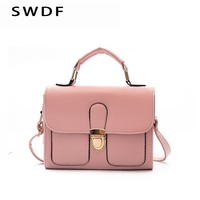 SWDF Mini Lady Woman Messenger Bags Retro Leather Small Shoulder Strap Womens Handbags Ladies Designer Rivet