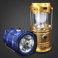 Classic Style 6 LEDs Rechargeable Camping Light Portable Lanterns Solar Rechargeable Emergency Lighting Outdoor Camping Light