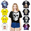 Women Summer 3D Funny T Shirt Short Sleeve O-Neck T-Shirts Women Female Tops Cotton Women Best Friends T Shirt Wt91100