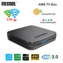 Newest MECOOL KM9 Android 9.0 TV Box Amlogic S905X2 Quad Core 4G DDR4 32G ROM 4K 2.4G/5G WiFi Smart TV Box USB 3.0 Media Player mecool kii pro android 7 1 tv box quad core amlogic s905d cpu support 2 4 5ghz wifi smart tv box 4k h 265 bt4 0 media player