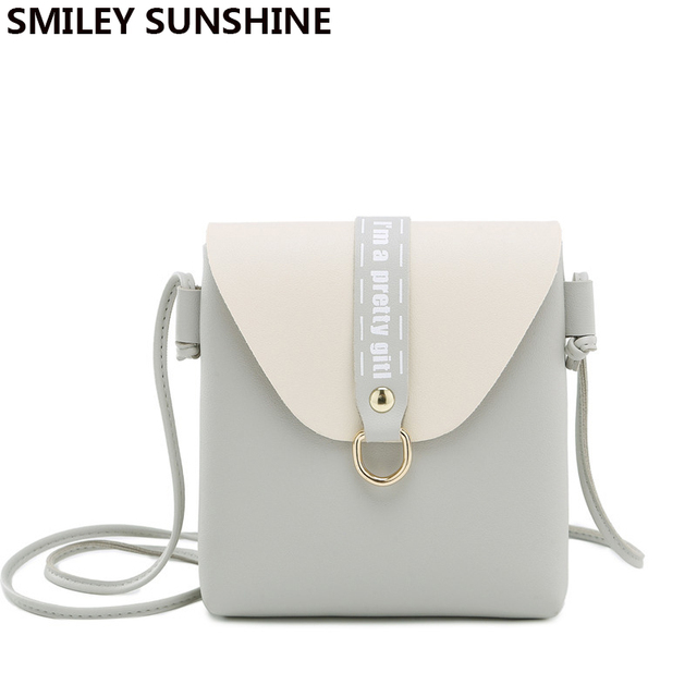 430f8b63595 SMILEY SUNSHINE Cute Mini Shoulder Crossbody Bags for Women 2018 Pu Leather  Small Messenger Bags Ladies Phone Hand Bags Purses