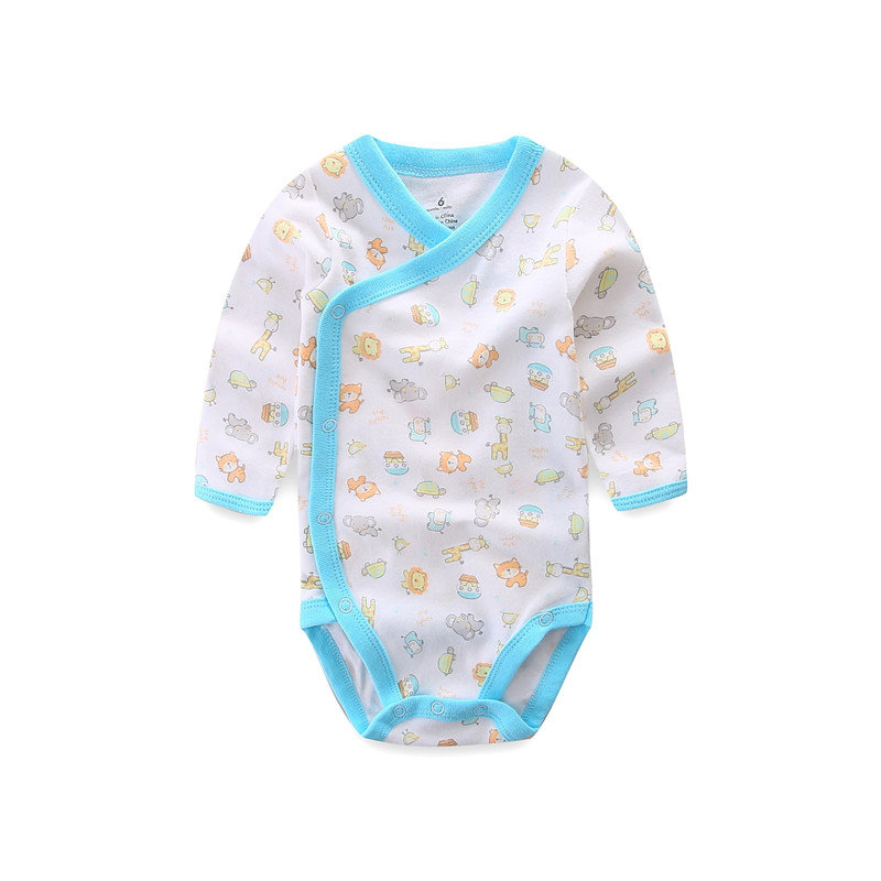 Улыбающийся малыш 5 шт./лот одежда с длинным рукавом; Детский комбинезончик из мягкого хлопка, модная одежда для детей, детская одежда с принтом в виде Одежда для новорожденных мальчиков и девочек 5