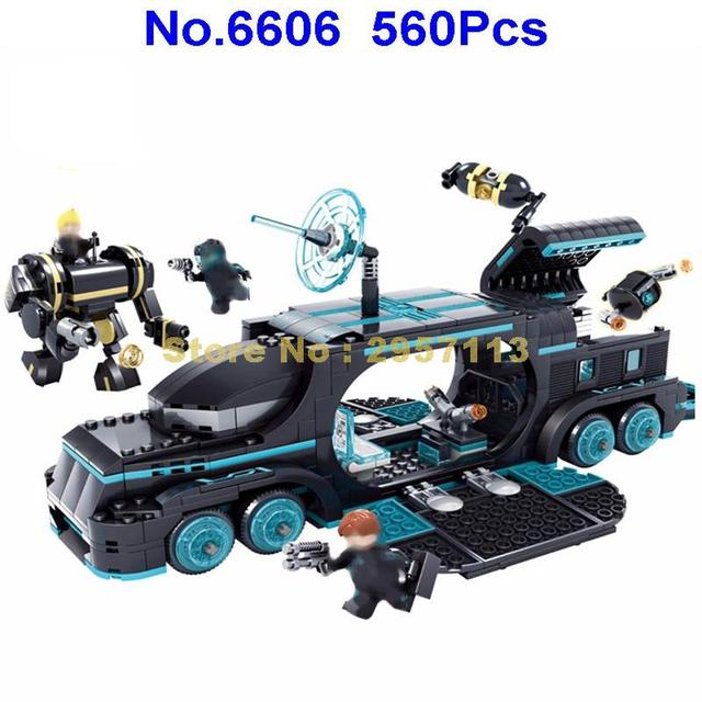 6606 560pcs Future Police City War X Agents Armor Chariot Car Mech