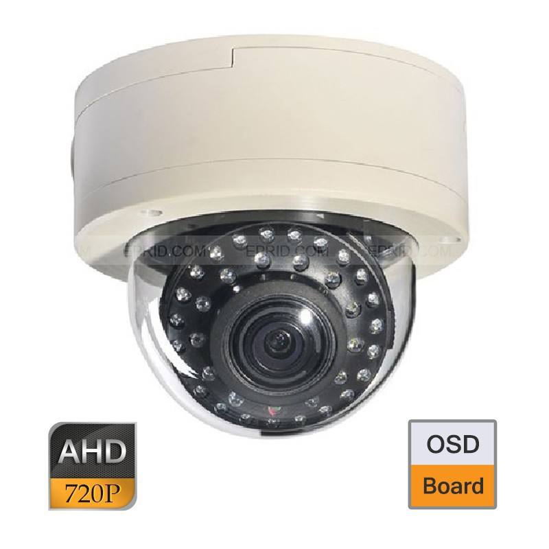 CCTV AHD 1.0MP 720P OSD 2.8-12mm Varifocal Lens Vandalproof Dome Camera