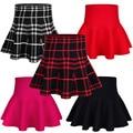 2017 de La Moda de Primavera Otoño niño faldas de la muchacha niños vestido de Bola Knitting Plisado mini Falda de los niños niñas de cintura alta Falda Del Tutú
