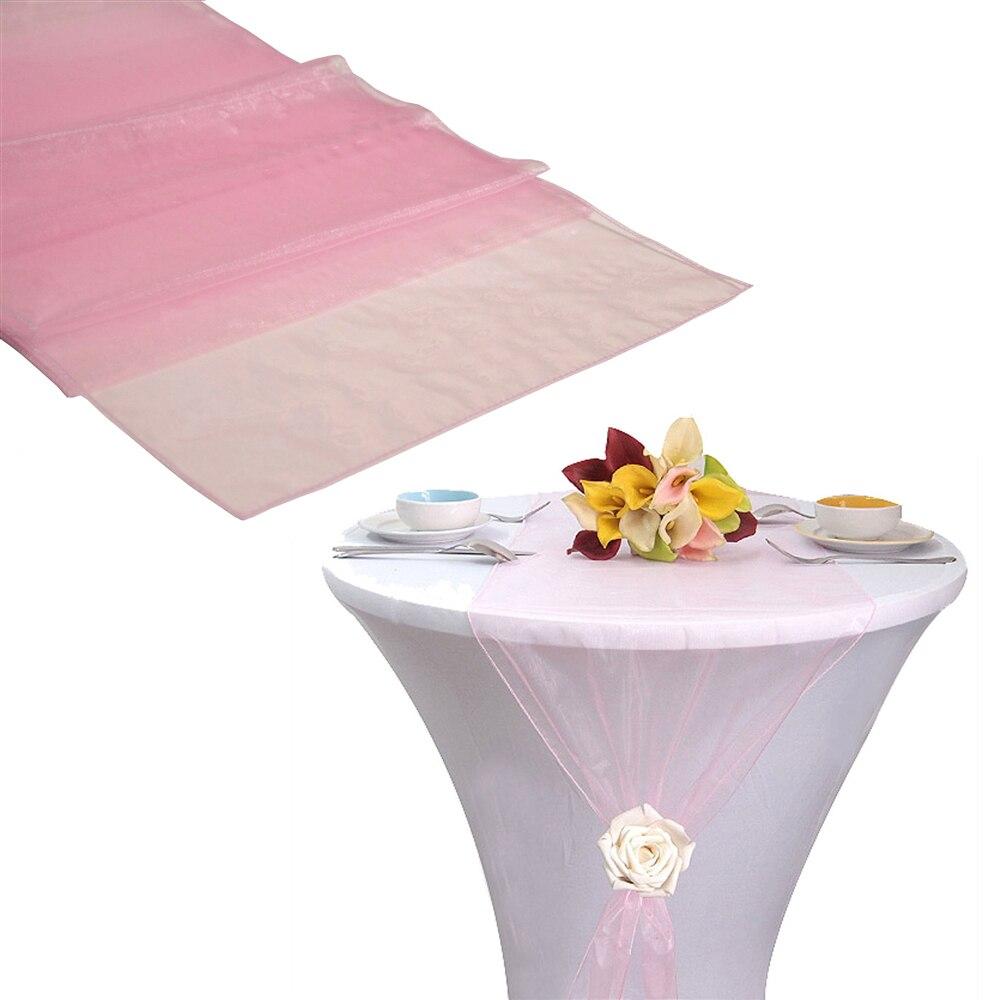 ღ ღ(Envío gratis) 75 unids Light Pink organza SASH silla Mesa ...