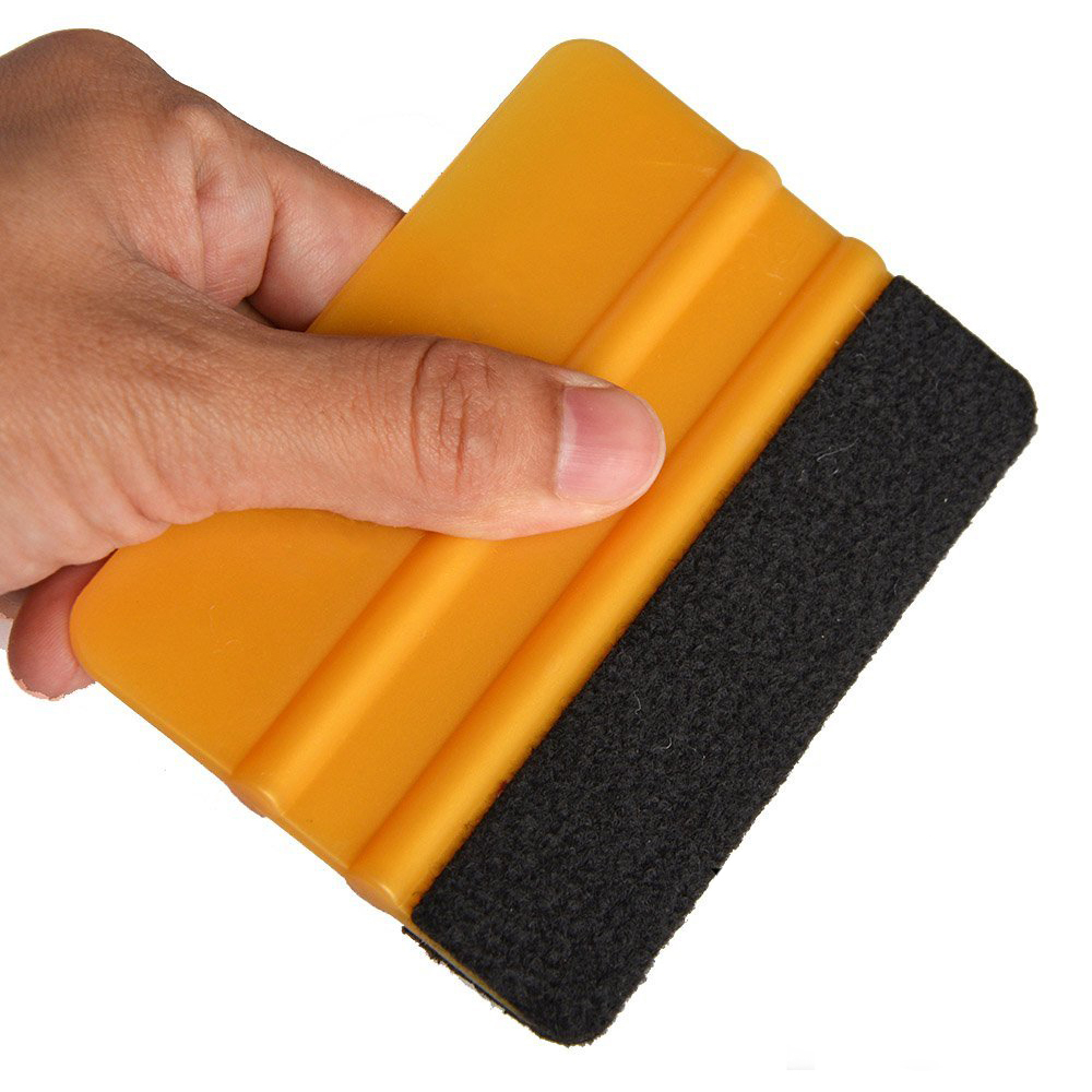 EHDIS 100Pcs/lot Gold Vinyl Film Wrap Felt Squeegee Car Wrapping Tool Auto Window Tint Tool Household Cleaning Wash Ice Scraper