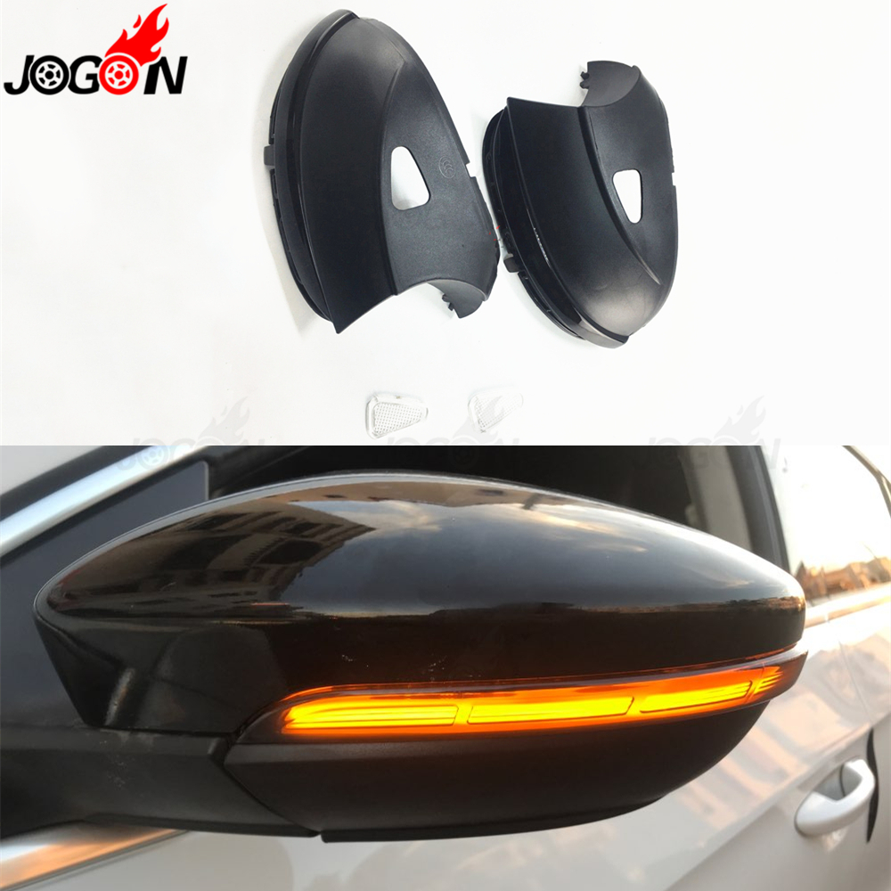 Pour VW Passat B7 CC Scirocco Jetta MK6 EOS clignotant dynamique LED aile latérale rétroviseur indicateur clignotant répétiteur lumière
