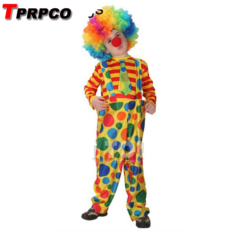 Home 100% True Tprpco With Wig Kids Cute Clown Costumes Cosplay Halloween For Children Boy Nl149